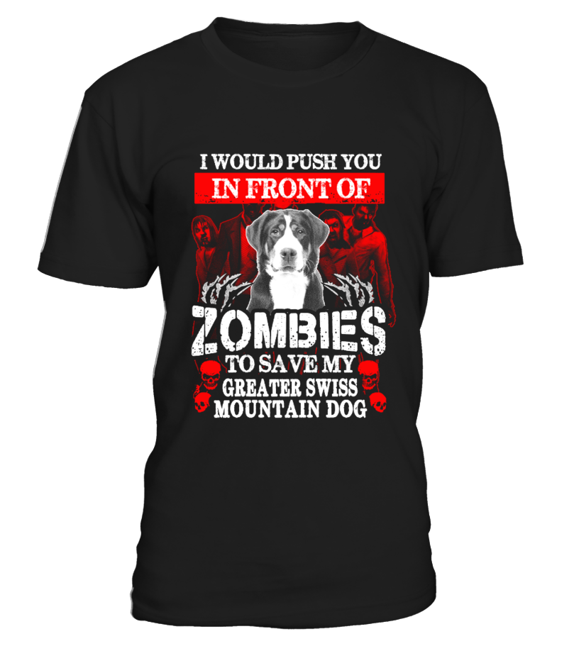 Zombies Greater Swiss Mountain Dog gift idea shirt