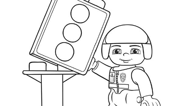 lego duplo police officer coloring page