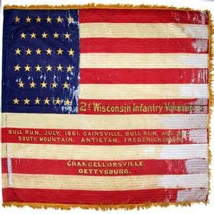 Flags at Gettysburg Battle Union