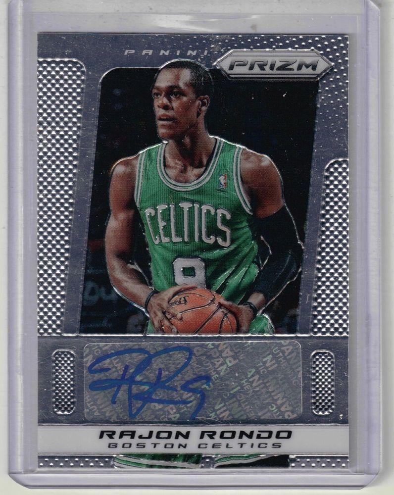 201314 prizm basketball rajon rondo autographed card