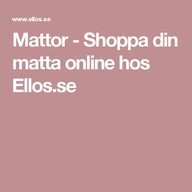 Mattor - Shoppa din matta online hos Ellos.se