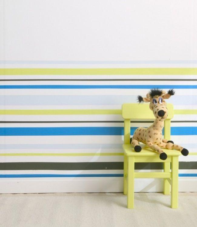 Wand streichen muster-selber-machen-streifen-kinderzimmer Haus