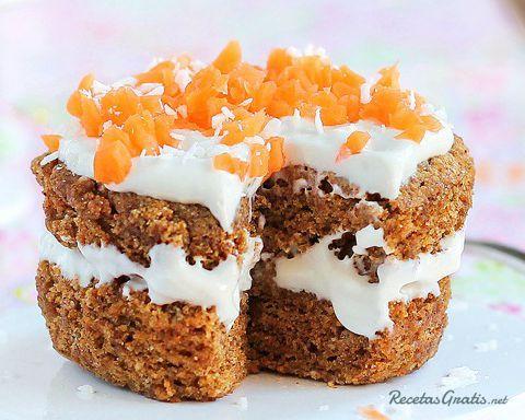 pastel zanahoria facil