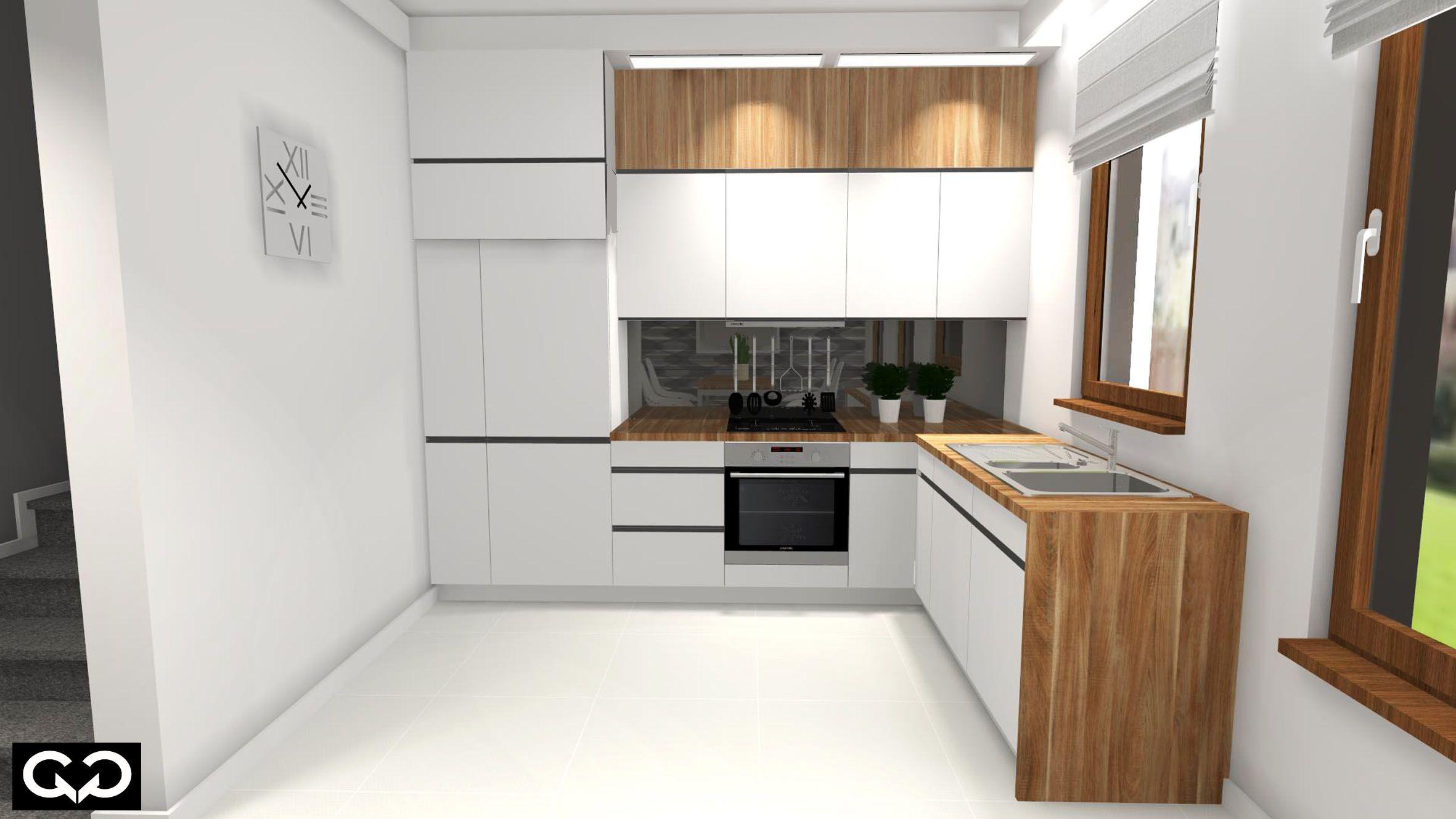 Nowoczesna Kuchnia Biel I Drewno Home Decor Kitchen Kitchen Cabinets