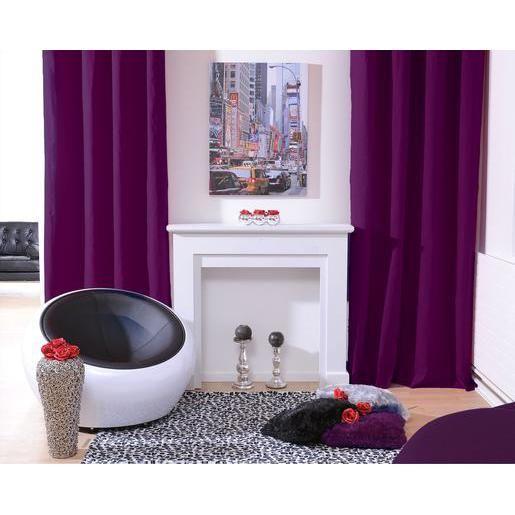 Panneau à oeillets - 100% polyester - 140 x 240 cm - Violet