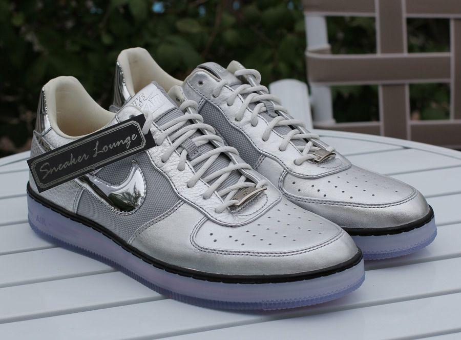 nike air force 1 elite qs white/chrome/metallic silver