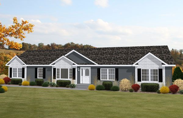 Ranch Home Exteriors ranch house exterior colors | modular ranch homes in raleigh, nc