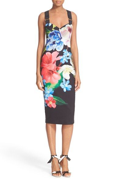 603dc1c6af683 Free shipping and returns on Ted Baker London  Alexie  Floral Print Midi  Dress at