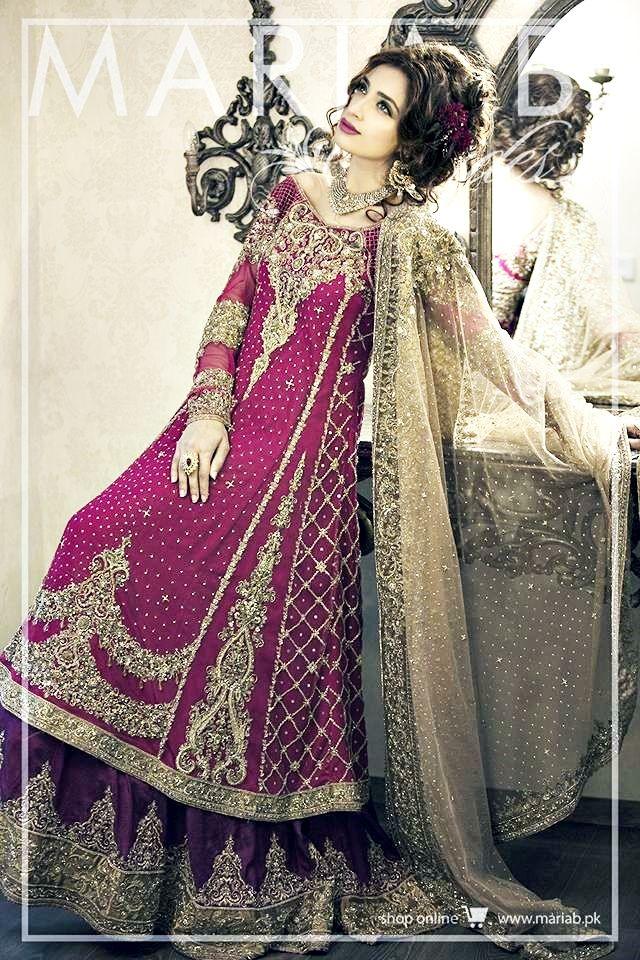 Magenta colored dresses in pakistan 2018