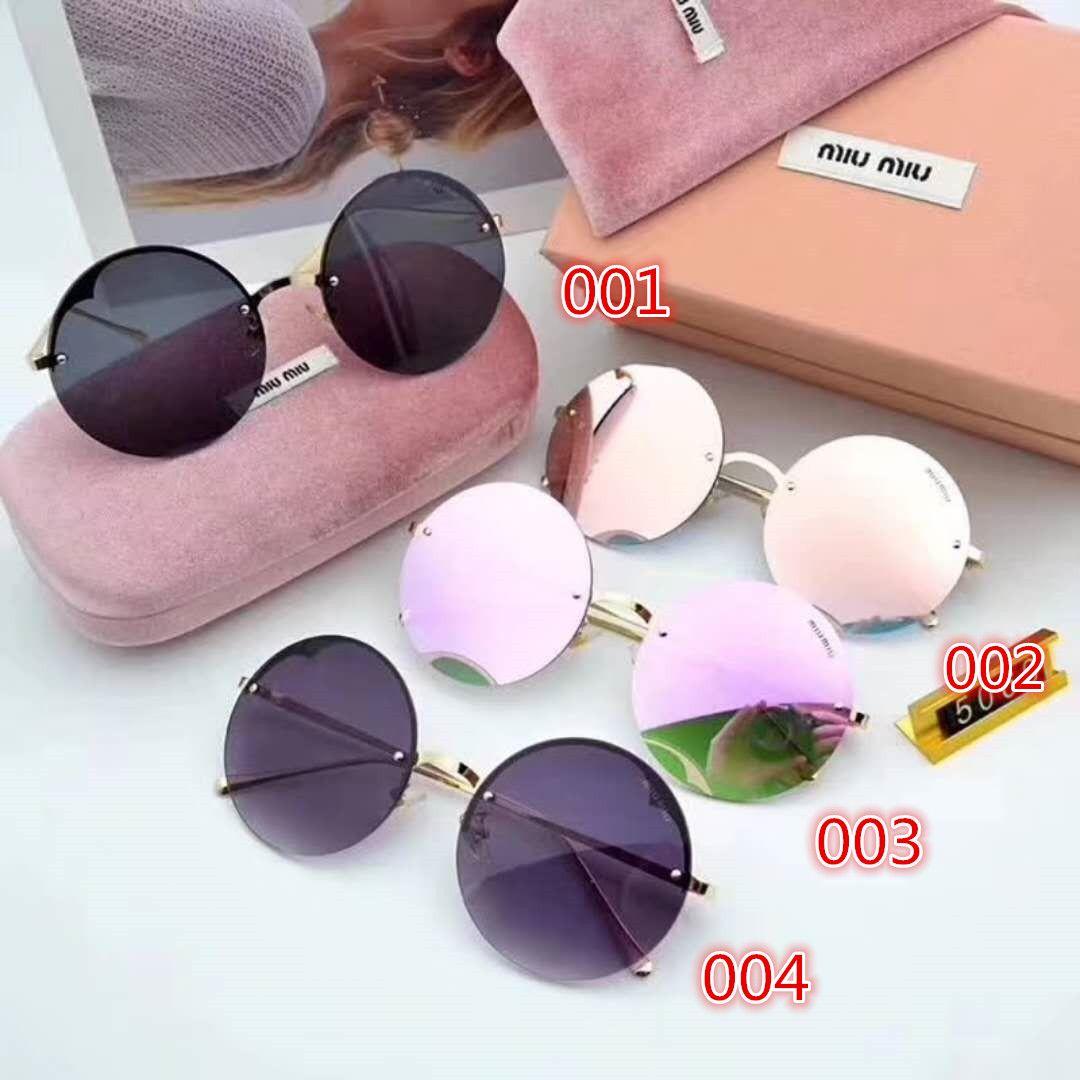 ミュウミュウ Miumiu サングラス レディース ラウンド ミラーサングラス かわいい サングラス Oval Sunglass Sunglasses Glasses