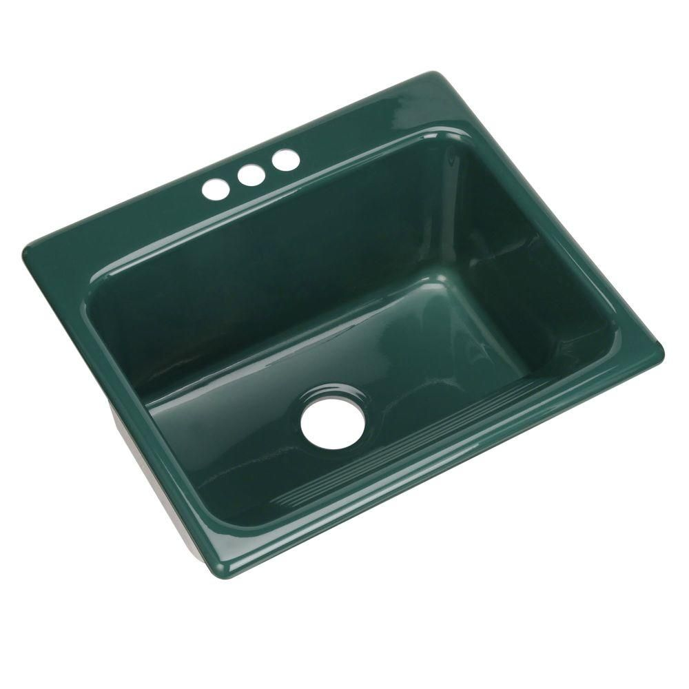 Kensington Drop In Acrylic 25 3 Hole Single Bowl Utility Sink