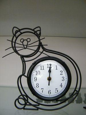Pin By Yvonne Naudack On Cat Wordl Cat Clock Clock Cat Decor