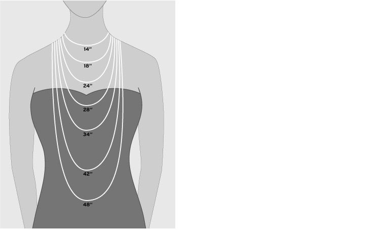 See Our Visual Guide To Necklace Length At Nordstrom Use This
