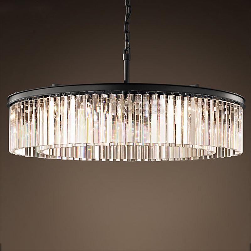 Crystal Chandelier Round Shape Lighting Lustres Suspension
