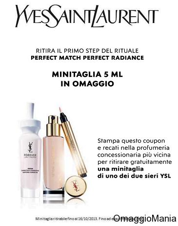 Campione omaggio siero Yves Saint Laurent Perfect Match Perfect Radiance - http://www.omaggiomania.com/campioni-omaggio/campione-omaggio-yvessaintlaurent-perfect-match-perfect-radiance/