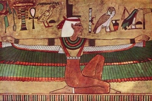 """Isis is an ancient Egyptian goddess, associated with the earlier goddess Hathor, who became the most popular and enduring of all the Egyptian deities. Her name comes from the Egyptian Eset, (""""the seat"""") which referred to her stability and also the throne of Egypt as she was considered the mother of every pharaoh through the king's association with Horus, Isis' son. Her name has also been interpreted as Queen of the Throne. (By Joshua J. Mark) -- AHE"""