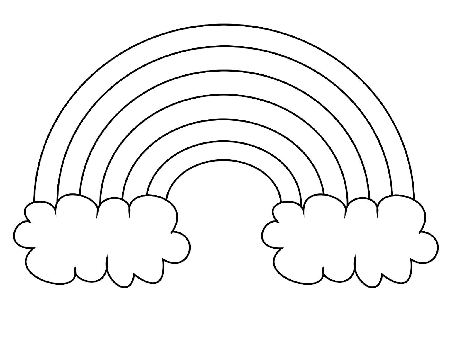 Great Coloring Pages For Kindergarten 16 Rainbow pages