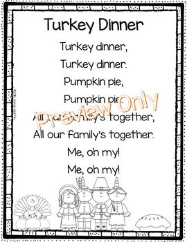 Thanksgiving Poem: Turkey Dinner