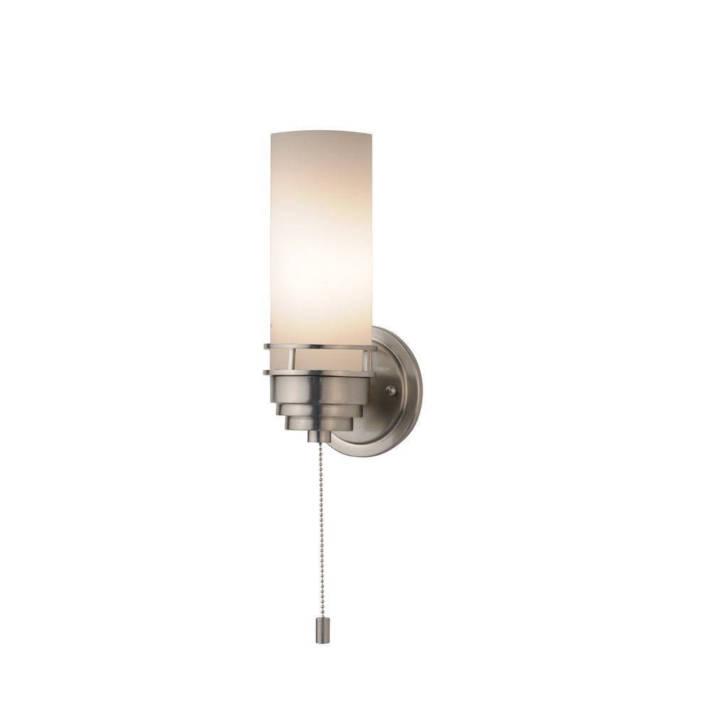 Design Clics Lighting Contemporary Single Light Sconce With Pull Chain Switch 203 09