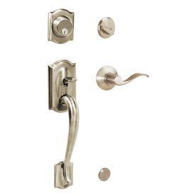 Schlage F60 Camelot Traditional Satin Nickel Single Lock Keyed