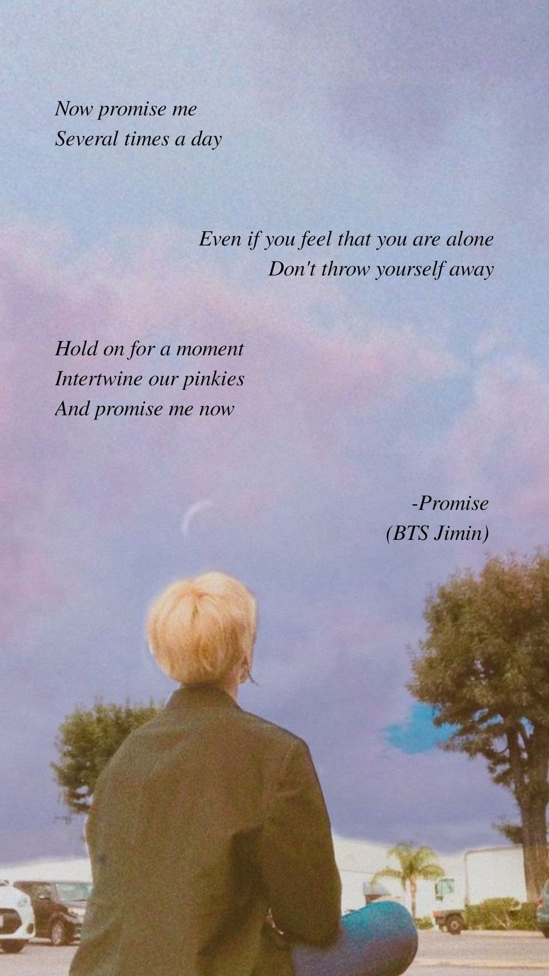 Promise by BTS Jimin . Lyrics wallpaper . Follow my IG (@jinniehosh) for the most recent ones :) #btswallpaper