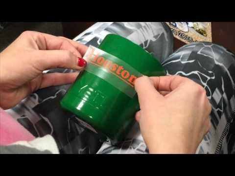 How To Apply Vinyl Decal To Yeti Cup Silhouette Stuff - Custom vinyl decals for cups