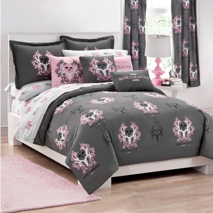 Bone Collector Pink Twin Xl Comforter Set For Students Living In