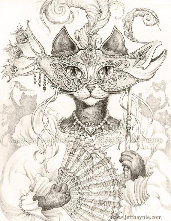 Cat Paintings | chat îmages | Pinterest | Gato, Mandalas y Tatuajes ...