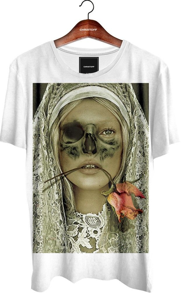 499186bfa5 Camiseta Gola Básica - Moss Skull