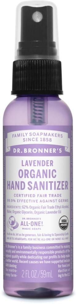 Dr Bronner S Organic Hand Sanitizer Lavender 2 Oz Hand