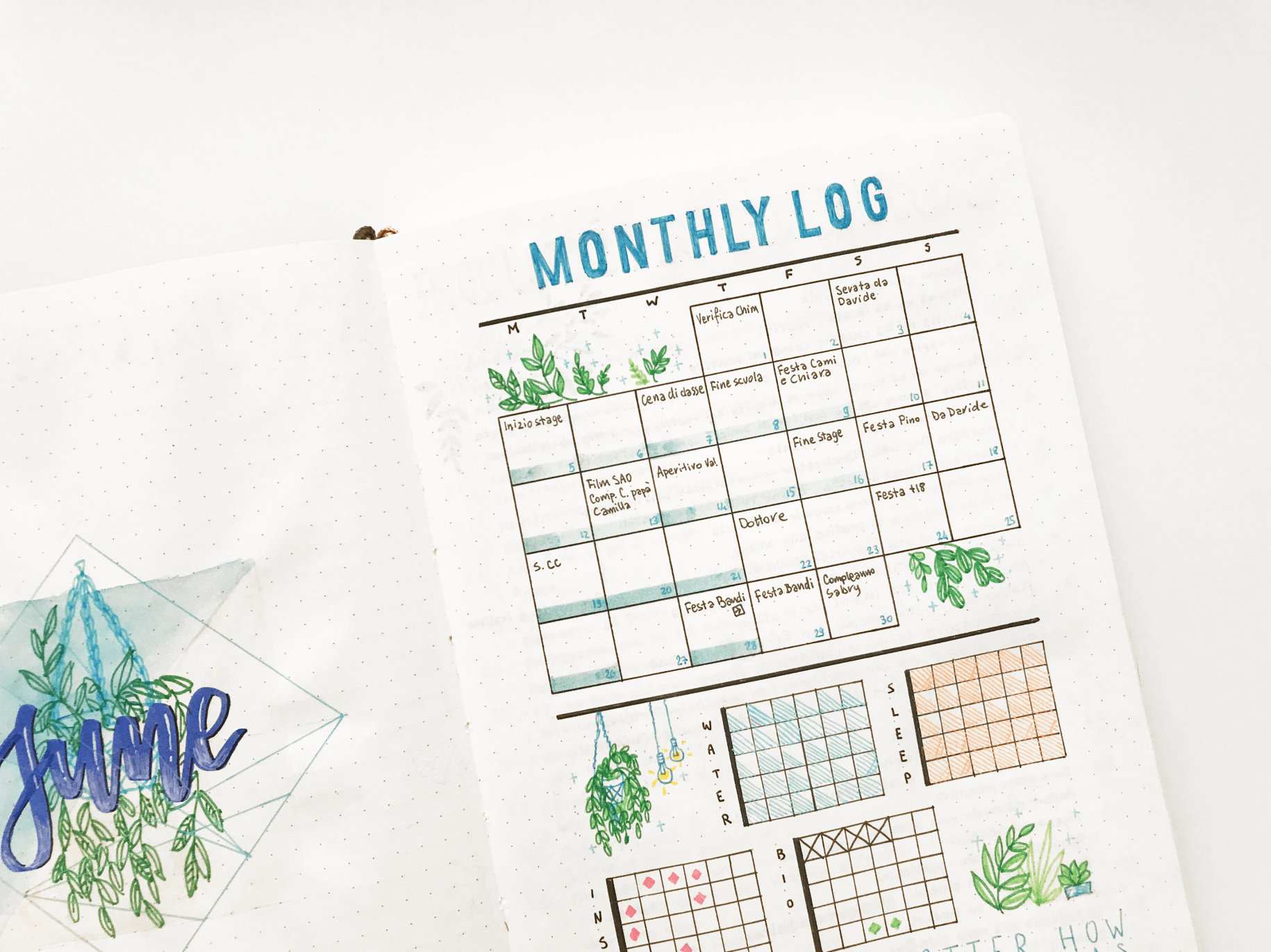 different types of bullet journal monthly logs bullet journals