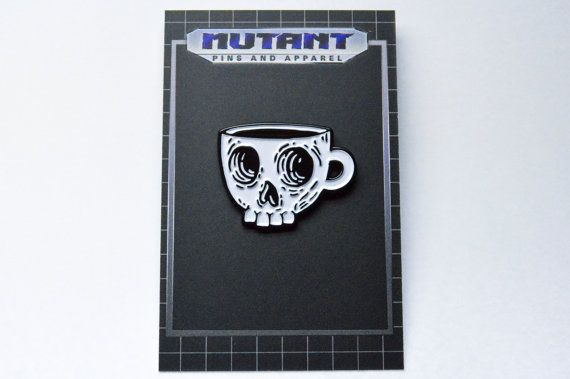 Hey, I found this really awesome Etsy listing at https://www.etsy.com/listing/290808985/coffee-skull-enamel-pin