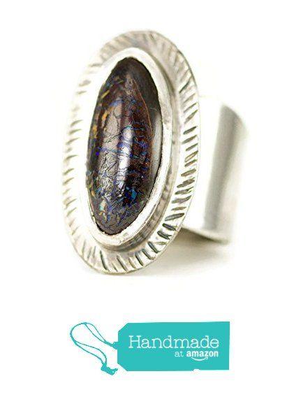 Koroit Boulder Opal Ring - Australian Boulder Opal Ring from All ...