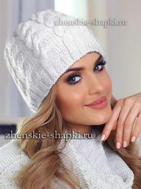 Вязание шапки спицами с косами схема и описание | Вязаные ...