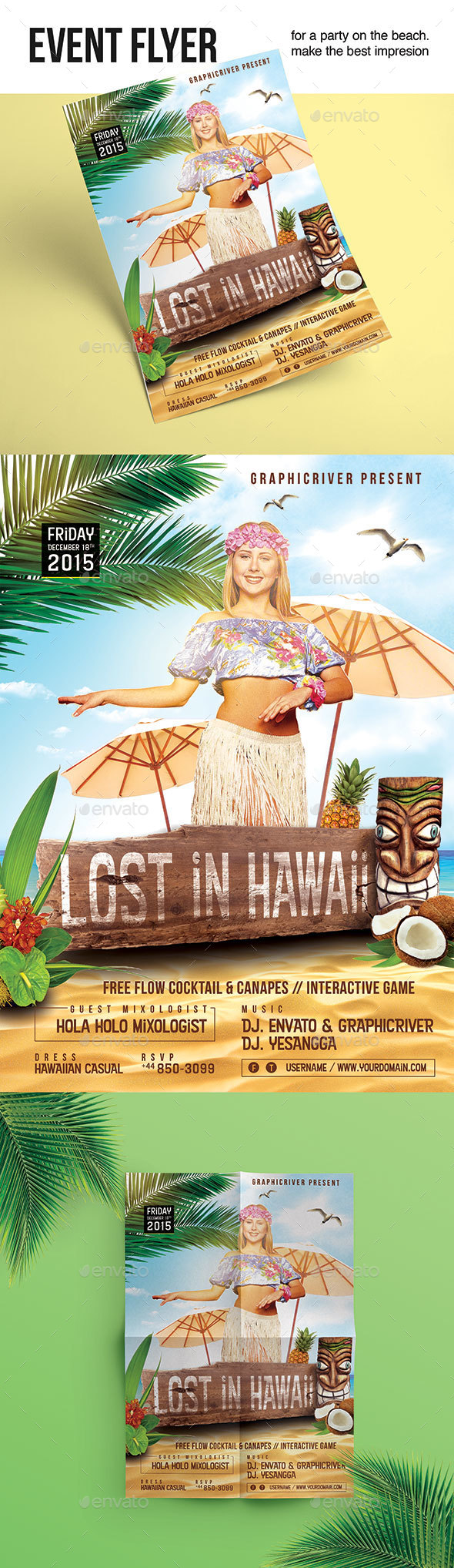 flyer lost in hawaii flyer template psd design download http