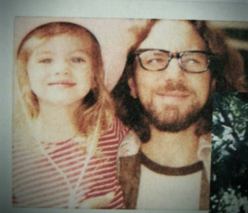 Eddie Vedder & Olivia - this is one of the permanent faces you get after having kids :)