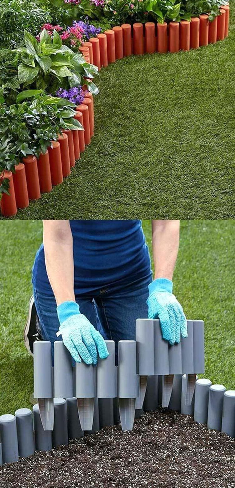 Easy DIY Lawn Edging for Cute Flower Bed Border Best