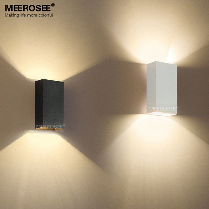 Indoor//Outdoor Lighting Wall Hanging Lights Stairs Garden LED Decorative Wall Light 2x3W Creative Wall Washer Corridor Restaurant Modern Minimalist Wall Sconce for Living Room Bedroom
