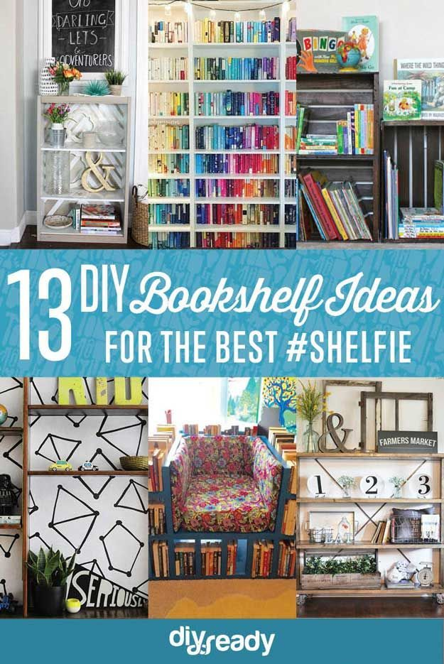 Up Your #Shelfie Game With These DIY Bookshelf Ideas Organisations