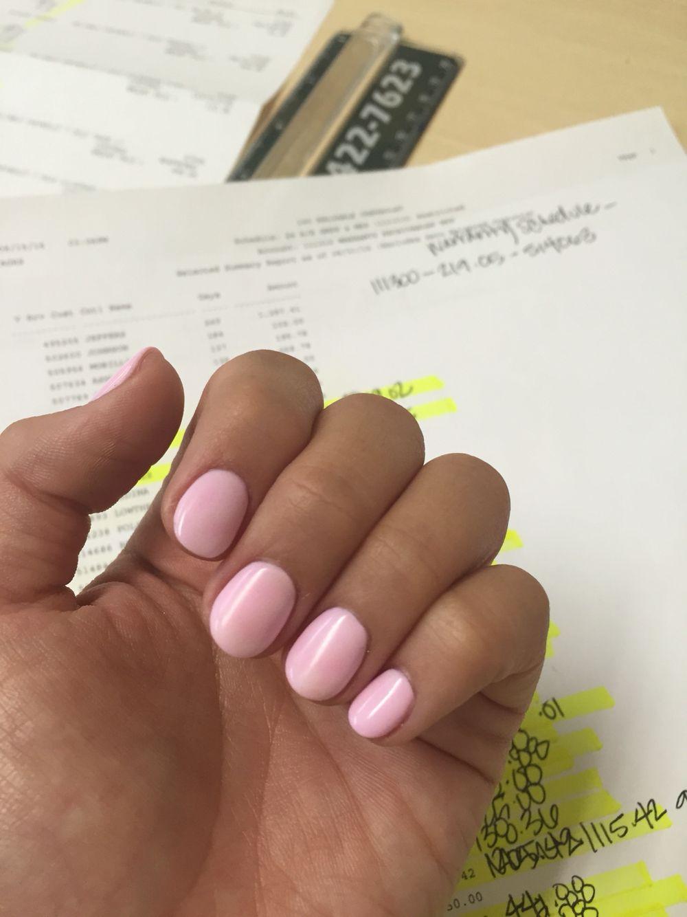Short Round Nails Rounded Acrylic Nails Short Gel Nails Pink Acrylic Nails