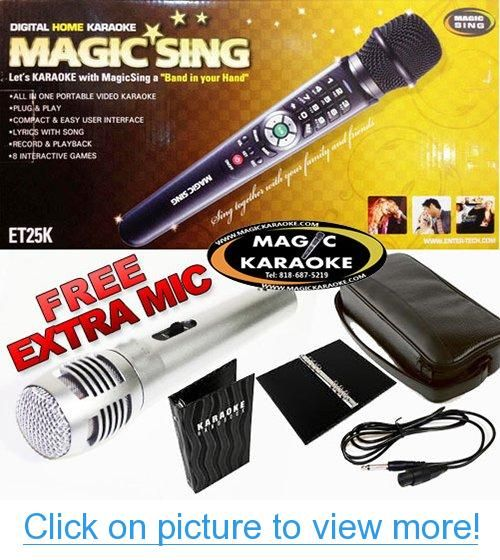 Magic Sing Karaoke Mic Et25k Spanish Version 1573 Spanish Songs
