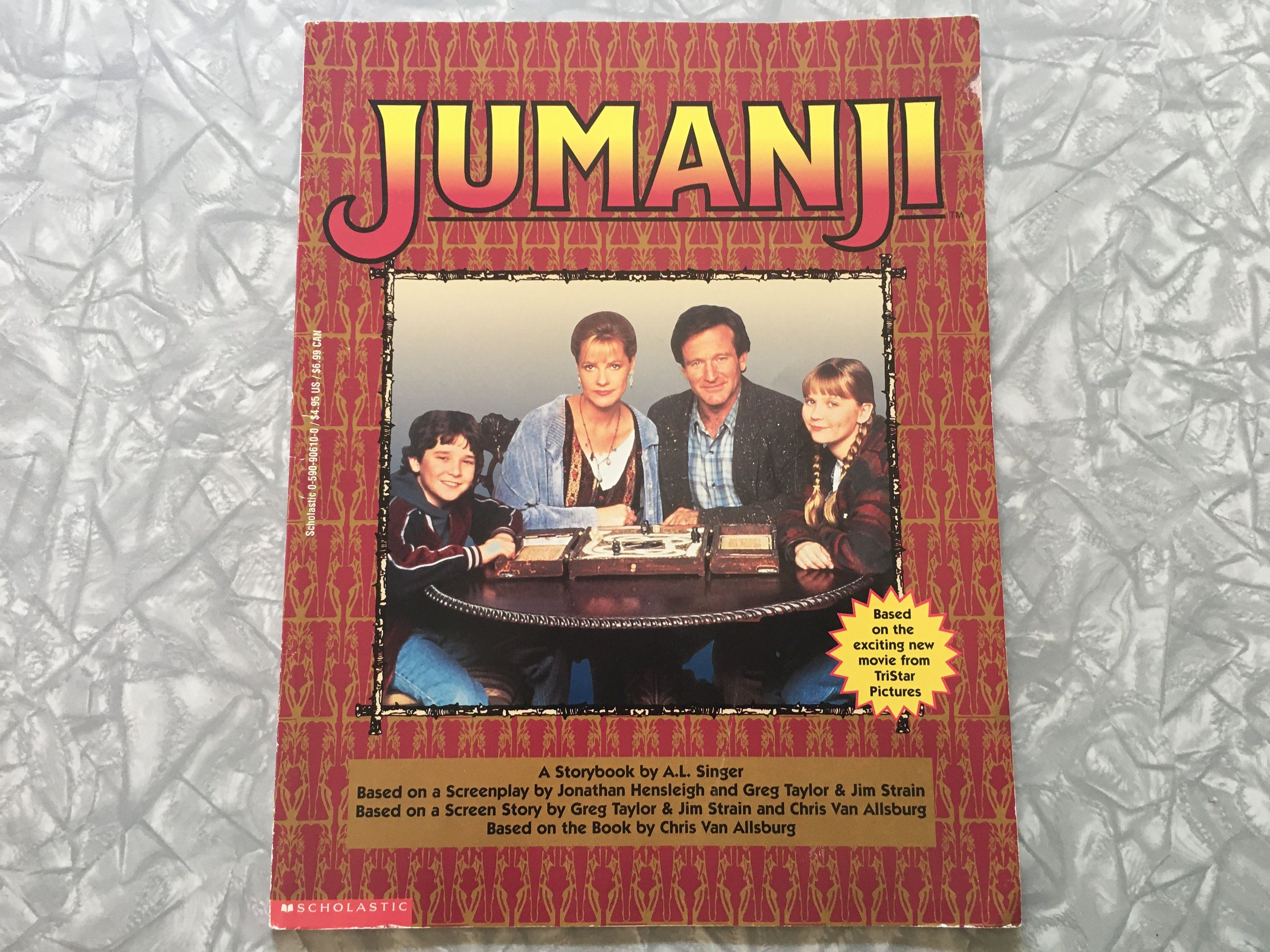 1995 jumanji storybook movie picture book etsy in 2020