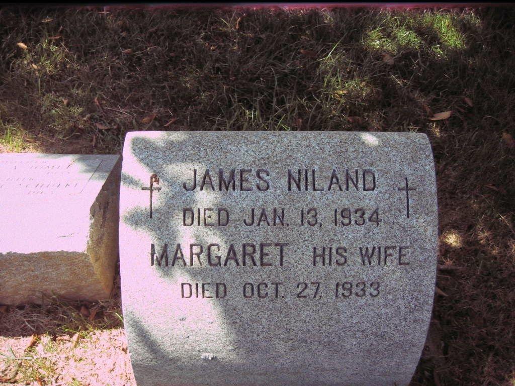 Touching Family History: Tombstone Tuesday-James and Margaret Niland #genealogy #familyhistory