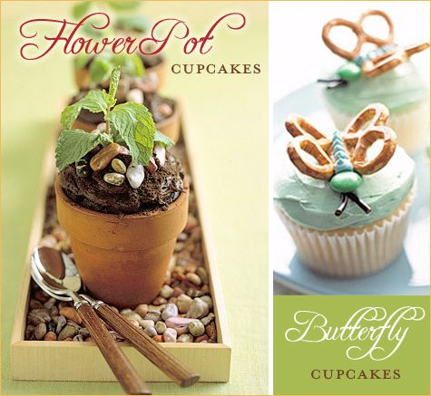 Flower Pot Cupcakes: Flower Pot Cupcakes for A Garden Party