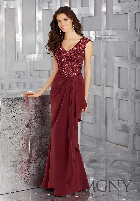 Elegant Mother of Bride Dresses Burgundy Color