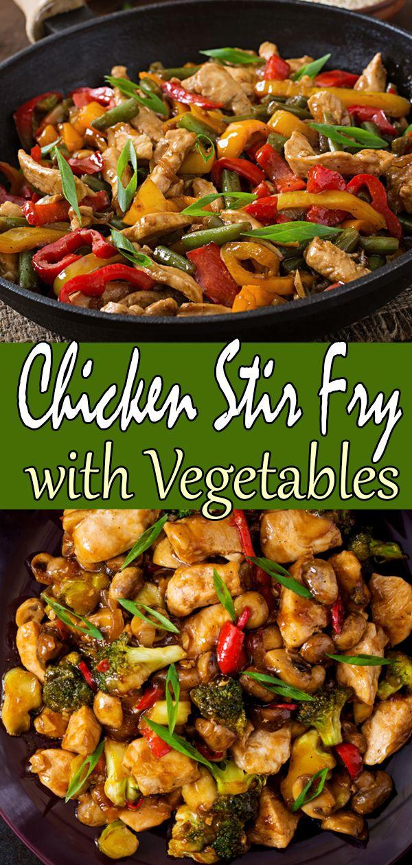 Chicken Stir Fry Recipe Stir Fry Chicken Allchickenrecipes Com Recipe Stir Fry Recipes Chicken Chicken Vegetable Stir Fry Vegetable Recipes