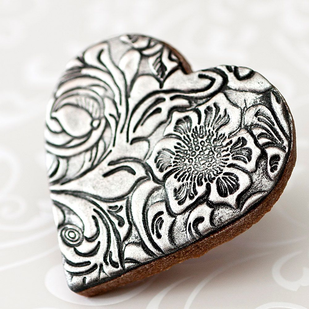Vintage Style Wedding Cookie Favors - Silver Anniversary // 12 ...