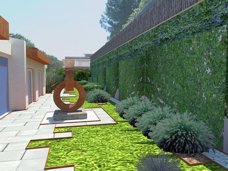 Ideas de paisajismo de exterior jardin patio estilo for Paisajismo patios
