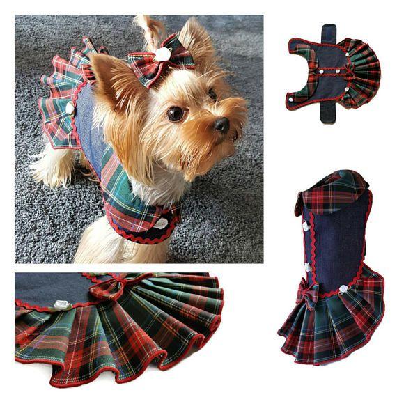 Dog Clothes Pattern Pdf Girl Dog Clothes Small Dog Pattern Dress Dog