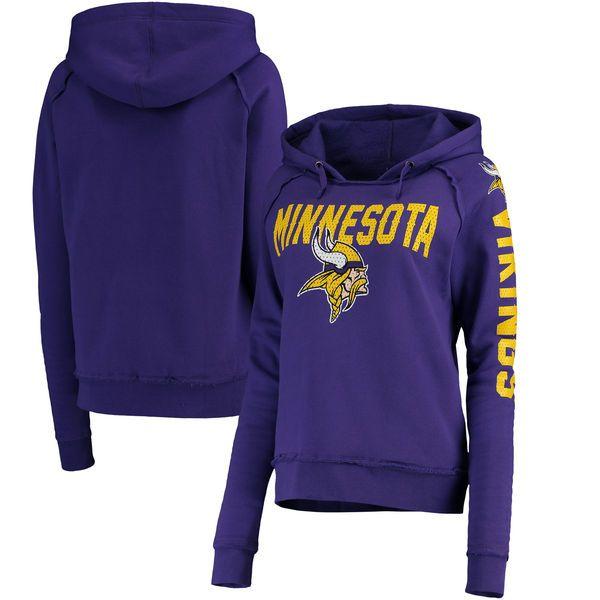 Women s Minnesota Vikings 5th   Ocean by New Era Purple Mesh Pullover Hoodie d4079e964